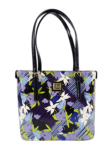 Anne Klein Perfect Tote Small Shopper (Purple Multi/Black) by Anne Klein