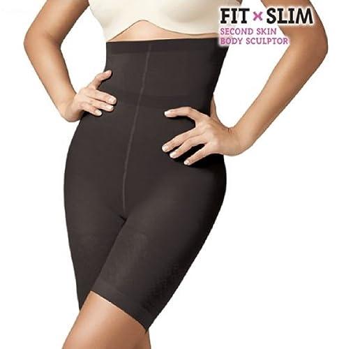 Lencería moldeado: corrugado Amincissante negra–Bodyshaper vientre plana, Fit X Slim