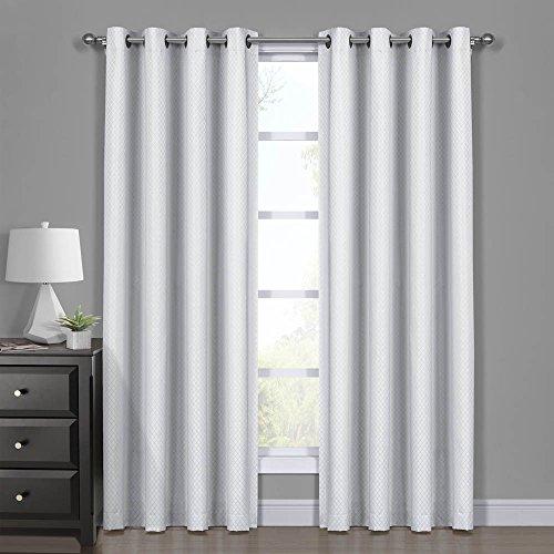 Royal Hotel Diamond White Curtains, Blackout Top Grommet, Ja