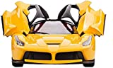 MW toyz Remote Control Ferrari R/C Car With Openable Doors And Rechargable Batteries For Kids (Yellow)