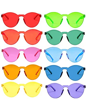 cbabd53b3 One Piece Rimless Sunglasses Transparent Candy Color Tinted Eyewear …