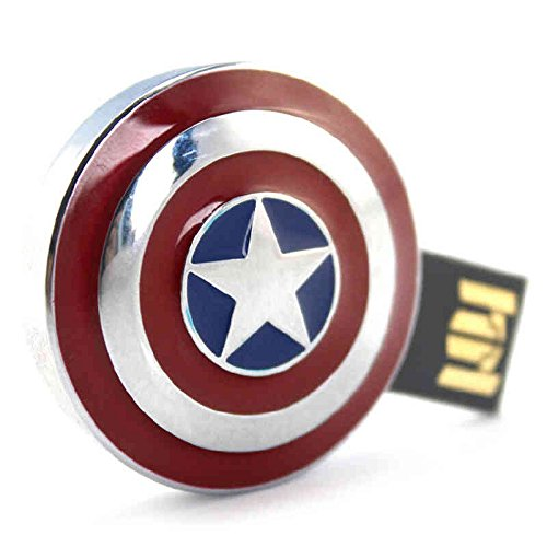 Captain America USB Flash Drive, Avengers, Infinity War, Marvel Universe, MCU, Marvel Cinematic Universe, Iron Man, Thor, Thanos, cosplay, cosplay gear, action figures, Marvel items, Incredible Hulk, Spider Man, Captain America, Black Widow, Doctor Strange