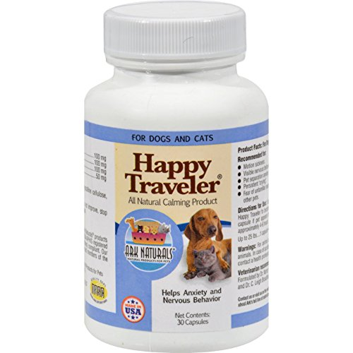 Ark Naturals Happy Traveler for Dogs and Cats - 30 Capsules (Pack of 2)