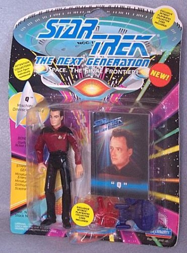 (Star Trek The Next Generation Q in Starfleet Uniform 4 inch Action)