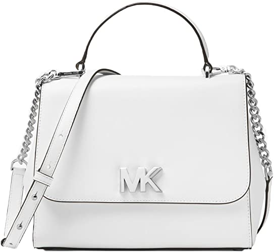 MICHAEL Michael Kors Mott Medium Leather Satchel Optic