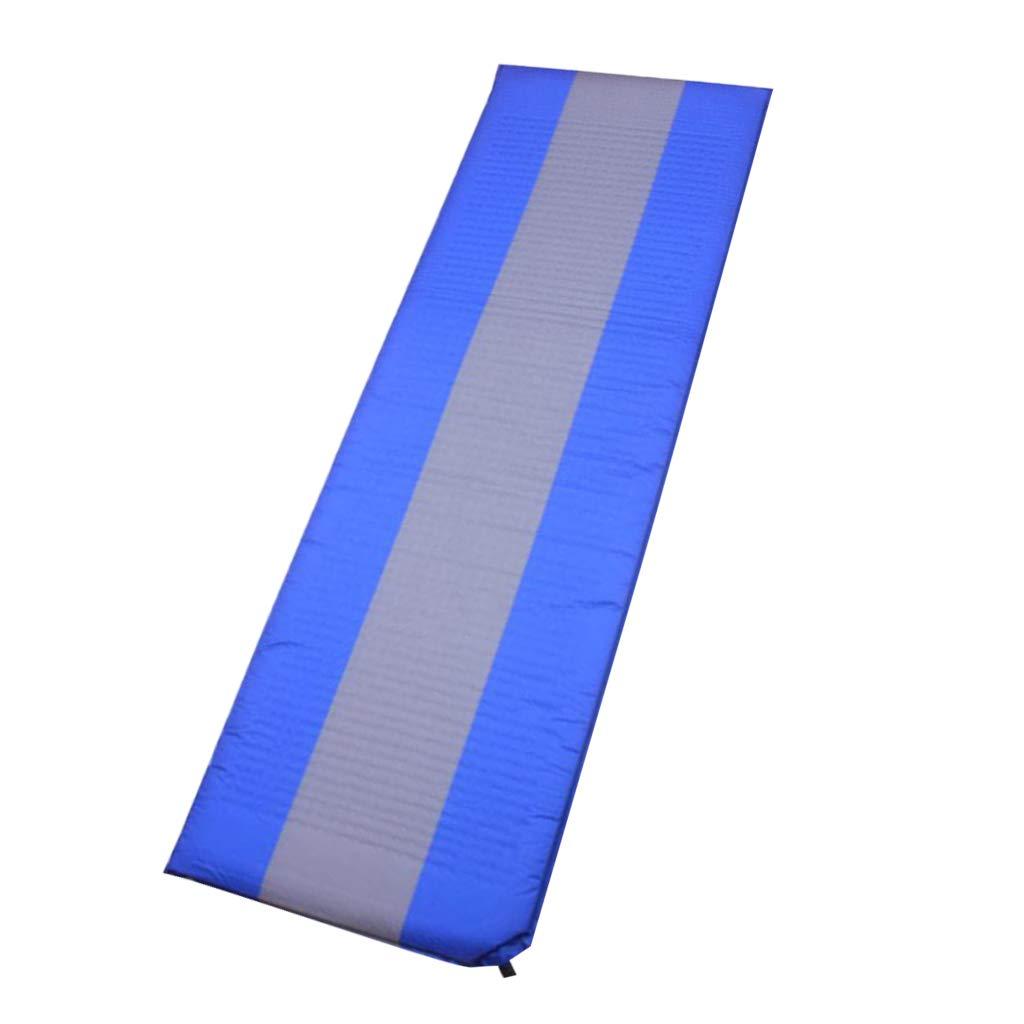 IPOTCH 1 Pieza Colchoneta Inflable Impermeable Portatíl Portatíl Portatíl cn Portador para Al Aire Libre Regalo - Azul fb0508