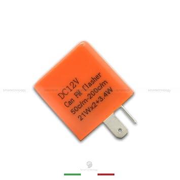 Relé de 12 V con regulador de frecuencia para luces LED intermitentes, con 2 pines, universal para coche y moto: Amazon.es: Electrónica