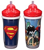 Baby : Playtex Sipsters Stage 3 Super Friends Spill-Proof, Leak-Proof, Break-Proof Insulated Straw Sippy Cups for Boys - 9 Ounce - 2 Count