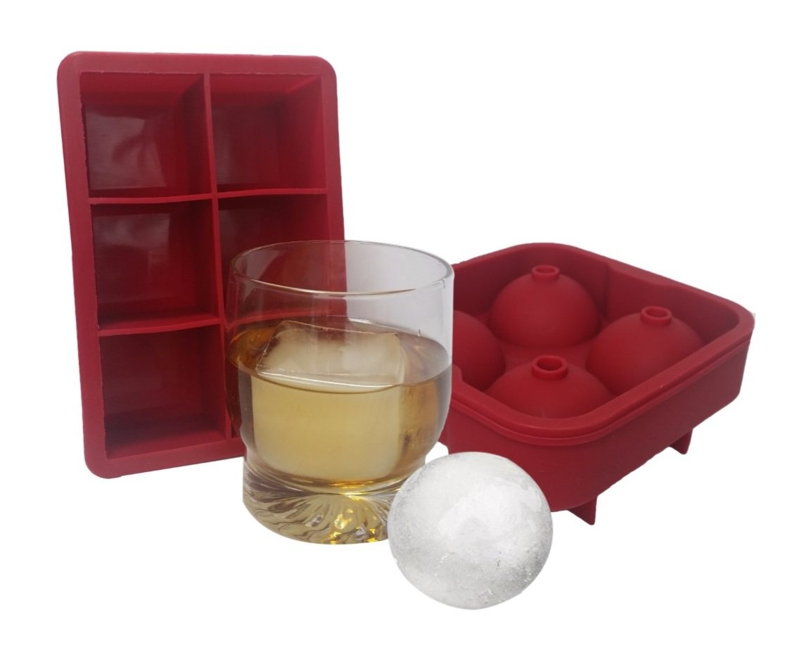combo large square round ice cube mold silicone tray jumbo giant square and. Black Bedroom Furniture Sets. Home Design Ideas