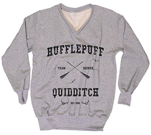 [Harry Potter Sweatshirt Harry Potter Sweater Hufflepuff Quidditch Sweater Everytees Sweatshirt Womens Sweater Gift for Women] (Dobby Harry Potter Costumes)