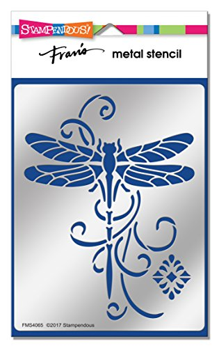 Dragonfly Stencil (Stampendous FMS4065 Dragonfly Swirl Metal Stencil)