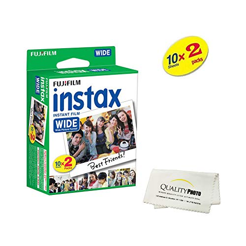 - Fujifilm instax Wide Instant Film 2 Pack (20 Exposures) for use with Fujifilm instax Wide 300, 200, and 210 cameras