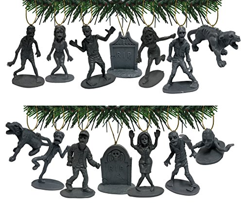 Zombies Apocalypse! Holiday Ornament Set of 14