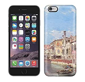 Best Power(Tm) HD Colorful Painted Watercolor River And Beautiful City Hard Phone Case For Iphone 6 Plus