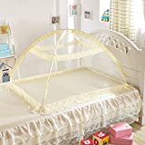 MLF-Baby Foldable Mosquito Net Bottomless band Bracket,Beige,80cm*110cm*70cm