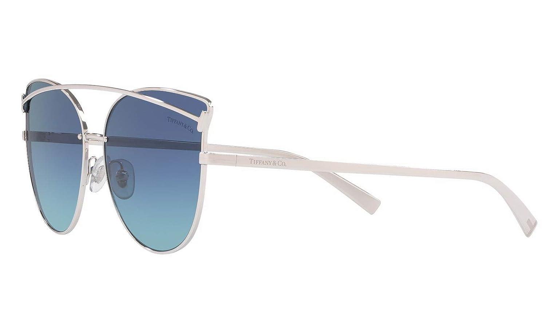 df2e23c3ef Amazon.com  Tiffany   Co. TF 3064 Cat-Eye Sunglasses for Women New 2019 T  Collection (Blue Gradient 60019S