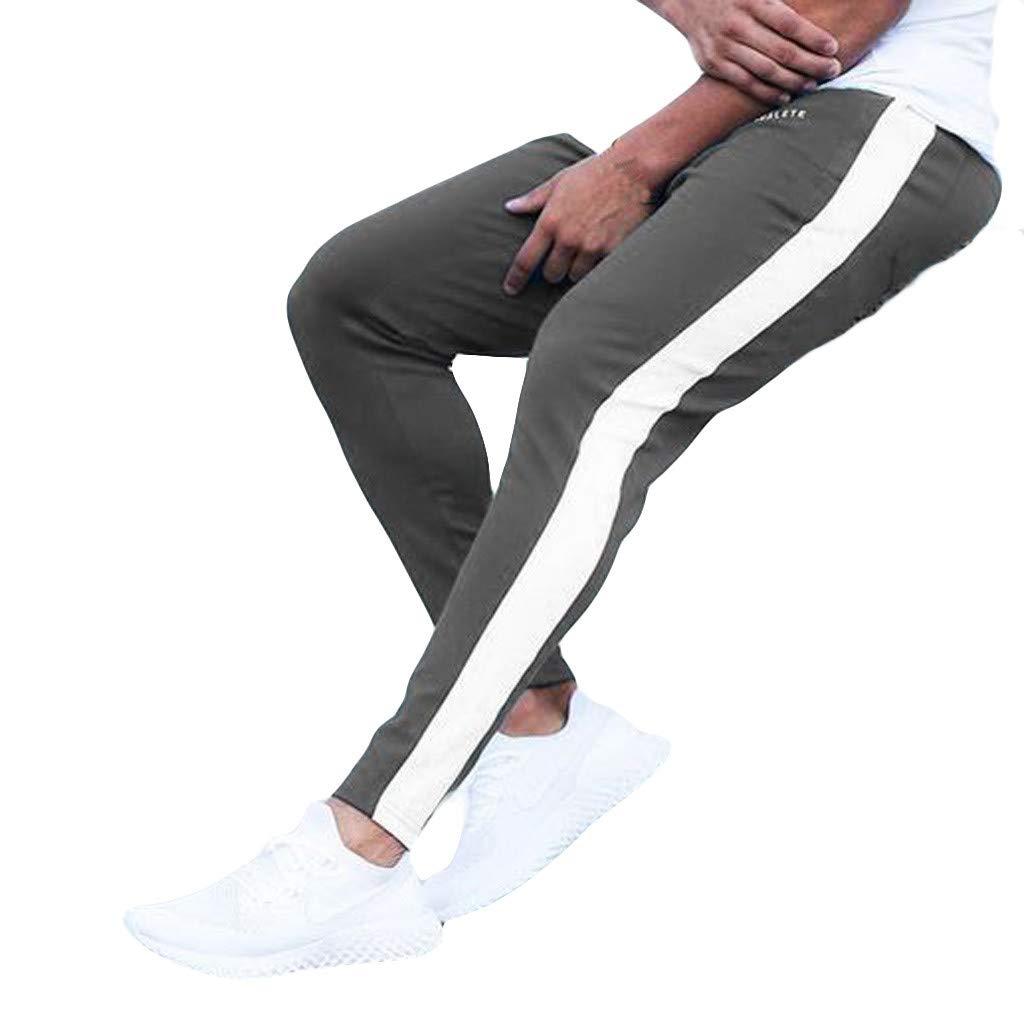 Rovinci_Pantalones ¡Gran promoción!Hombre Pantalones Hombres Nuevos Ocio Apretados Impresos Moda Cómodos Pantalones Fitness Deportes Gimnasio Running Yoga Pantalones atléticos Leggings