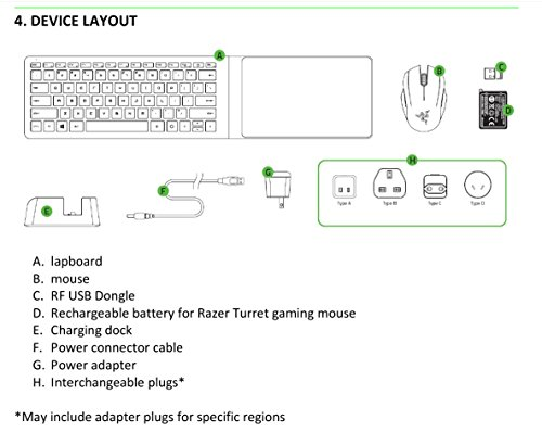 Razer Turret Lapboard Gaming Grade Mouse And Keyboard Import It All