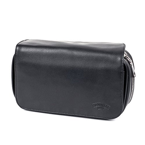 Black Tobacco Pipe Bag Pouch Case Pipe Pocket Pipe Tool Pocket for 3 Pipes by Pipe pouch