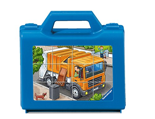 Ravensburger Favorite Vehicles Cube 12 Piece Jigsaw Puzzle for Kids - Every Piece is Unique, Pieces Fit Together Perfectly