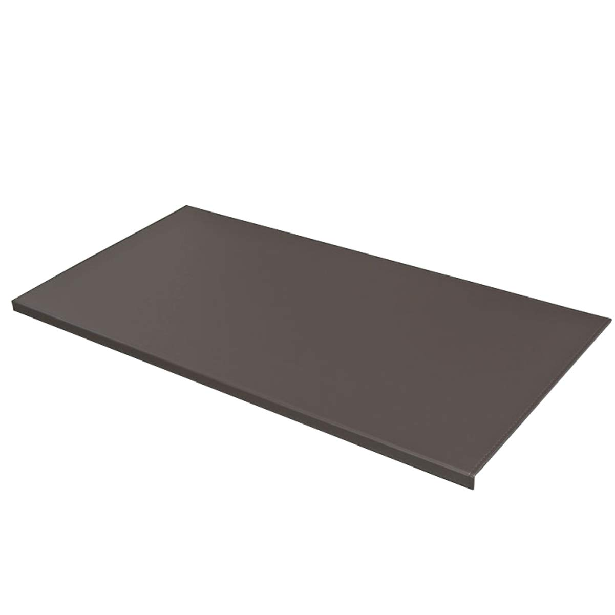 Non-Slip 35.4''x 18.9'' Soft Leather Surface Office Desk Mouse Mat Pad with Full Grip Fixation Lip Table Blotter Protector(Coffee) by BUBM