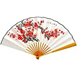 Oriental Style Folding Fan Hand Fan Handfan Handheld Fan Perfect Gift, P