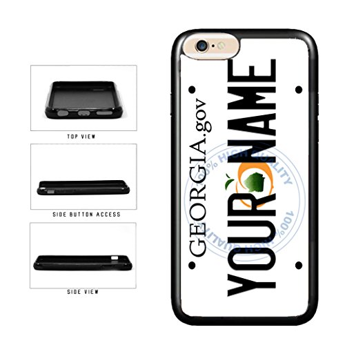 BleuReign(TM) Personalized Custom Name Georgia State License Plate TPU Rubber Silicone Phone Case Back Cover for Apple iPhone 8 Plus and iPhone 7 Plus