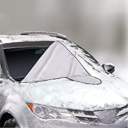 Car Windshield Cover For Winter Snow Removal- Magnetic Snow, Ice & Frost Guard - New 6x Magnets Fits Suv, Truck & Car Windshields - Auto Windshield Snow Cover - Large Over 5x6ft Great Barrier