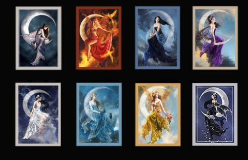 Art Fairy Card - COMPLETE SET OF ALL 8 NENE THOMAS FAIRY & MOON GREETING CARDS
