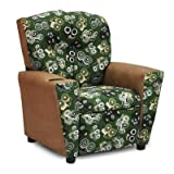 Mixy Kids Suede Recliner with Cup Holder and Storage Compartment