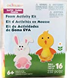 Easter Bunny and Chick Craft Fun Foam Kit Activity Kit. Makes 16