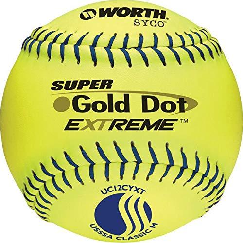 Worth 12'' USSSA Gold Dot Extreme Slowpitch Softball (Dozen)