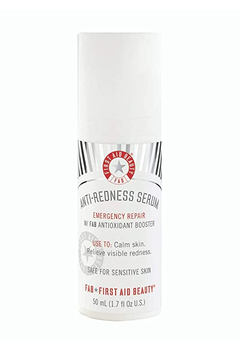Amazon.com: First Aid Beauty Anti-Redness Serum: Soothing Serum for Sensitive Skin. Protects from Free-Radical Damage and Reduces Flare Ups (1.7 oz): Beauty