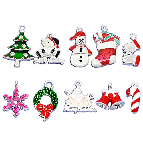Housweety Silver Plated Christmas Pendants