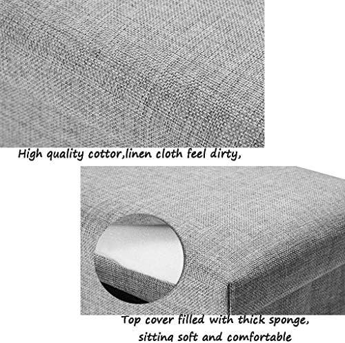 WZF Tabouret de Rangement rectangulaire en Tissu Peut s'asseoir Tabouret de Rangement Pliant Multifonction Adulte Chaise canapé Tabouret Tabouret Peut s'asseoir