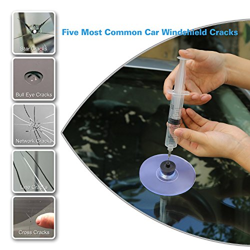 Fly5D DIY Windshield Glass Repair Kit Auto Car Windscreen Wind Glass Kit For Chip Crack (A) by Fly5D (Image #1)