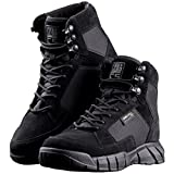 FREE SOLDIER Men's Tactical Boots 6'' inch Lightweight Military Boots for Hiking Work Boots Breathable Desert Boots (Black, 12.5)