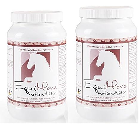 EquiMove 2 Dosen Motion Aktiv (2 x 1,5 kg Pellets) - Ergänzungsfuttermittel bei orthopädischen Problemen oder Defiziten in de