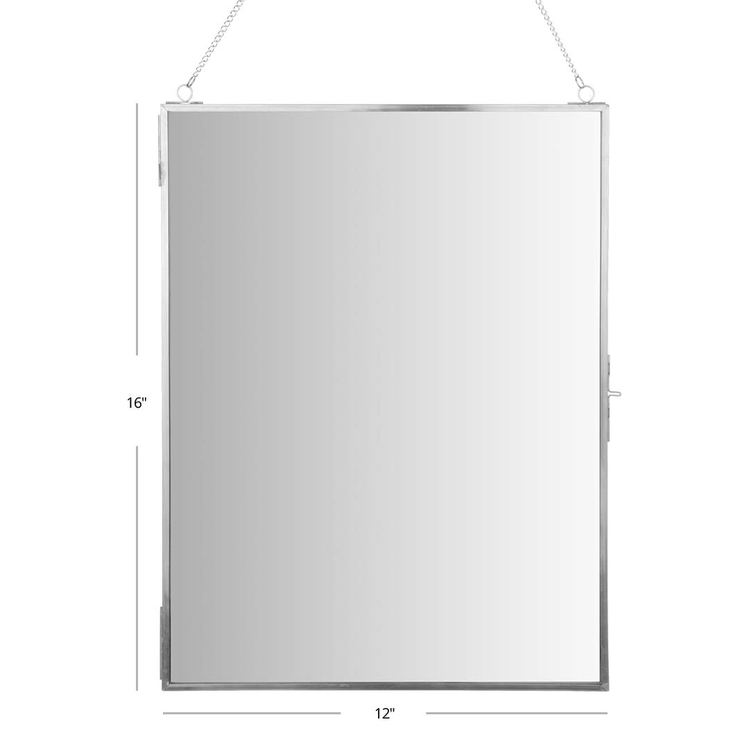 Koyal Wholesale Wall Mirror with Detachable Hanging Chain Round Vanity Mirror Gold, 12-Inch Hexagon Table Mirror for Centerpiece