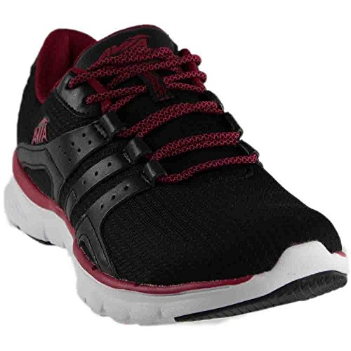 Avia Women's Avi-Mania Track Shoe, Black/Iron Grey/Ruby Pink, 8 M US by Avia
