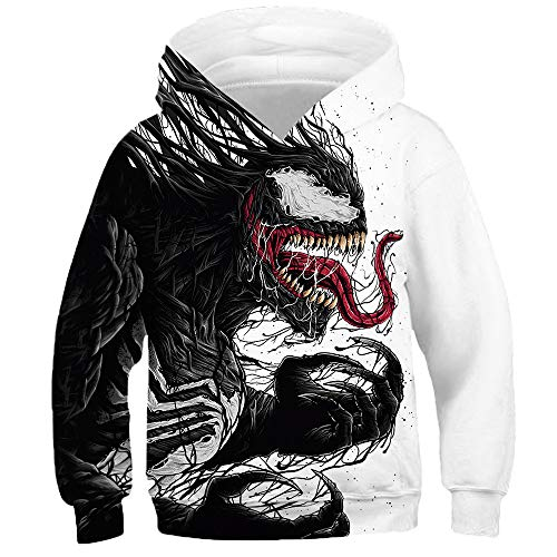 OYABEAUTY Boys' Teen 3D Print Graphic Sweatshirts Long Sleeve Pullover Hoodies with Pocket (X-Large(8-10 Years/135-145cm), A-Monster New)
