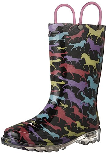 Western Chief Light-Up Solid Rain Boot, Toddler