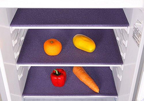 Price comparison product image Elfin Food Safe Porous Silica Gel Fridge Preserving Mat,  Prevent Spoilage,  Anti-mould Fridge Storage Organizer Drawer 18.5x11.8 inches (Purple)