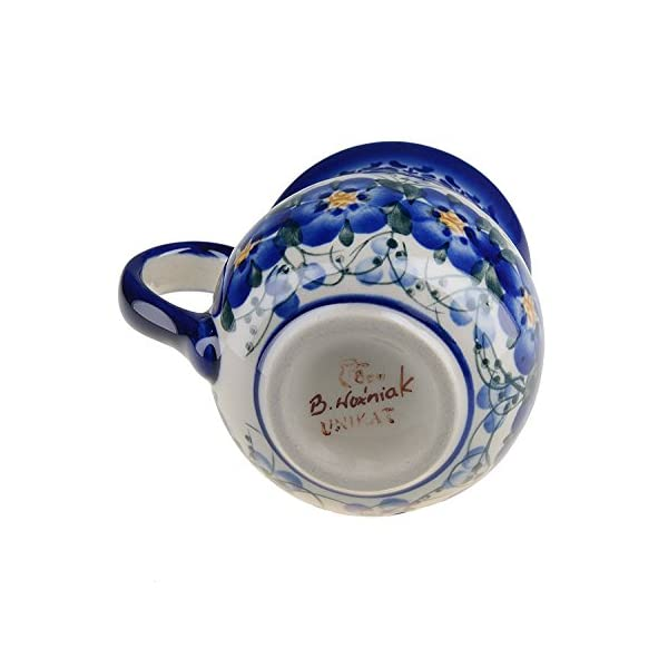 BCV Classic Boleslawiec, Polish Pottery Hand Painted Ceramic Mug Barrel (250, U-003)