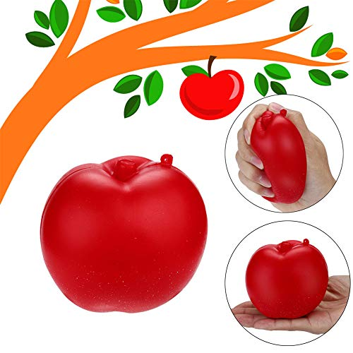 Euone  Squishy Toy, Red Apple Scented Squishies Slow Rising Squeeze Toys Stress Reliever Toy ()