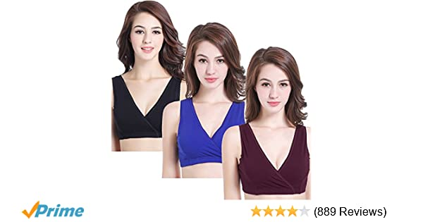54527d36b8175 CAKYE 3 Pack Women s Maternity Nursing Bra for Sleep and Breastfeeding at  Amazon Women s Clothing store
