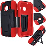 Samsung Galaxy Ace Style Accessories 3-items Bundle-VGUARD Dual- Layer Hard/Gel Hybrid Kickstand Armor Case (Black/Red)+ICE-CLEAR(TM) Screen Protector Shield(Ultra Clear)+Touch Screen Stylus
