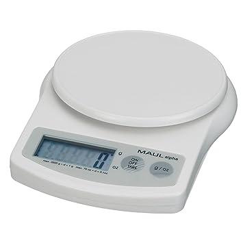 MAULalpha 1642002 - Báscula para sobres (hasta 2 kg), color blanco: Amazon.es: Oficina y papelería