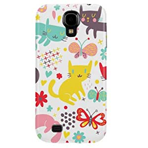 Cute Cats Hard Case Cover for Samsung Galaxy S4