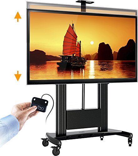 North Bayou Tv Cart Heavy Duty Motorized Screen Lift Tv Stand For 60 100 Inch Led Lcd Plasma Flat Panel Screens Up To 300 Lbs Tw100 Black
